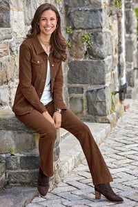 Classic Knit Denim Jacket - Petite