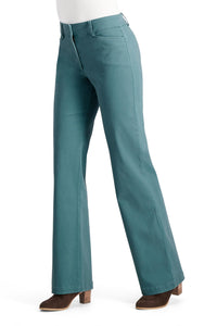 Washed Twill Wide Leg Chino Pant - Misses