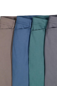 Washed Twill Straight Leg Chino Pant - Misses
