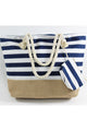 Horizontal Striped Tote Bag