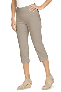 Classic Fit Pull-On Cropped Pants By Slim-Sation