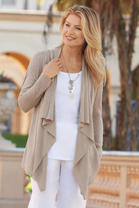 Flyaway Convertible Drape Light Cardigan