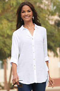 Misses High Low Hem Tunic by Foxcroft