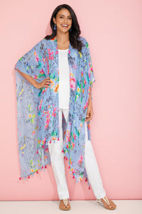 Accessories Floral Kimono With Tassels by Tolani®