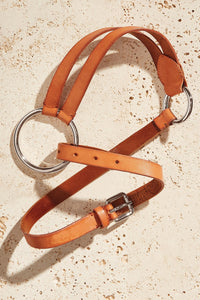 Italian Leather O-Ring Belt
