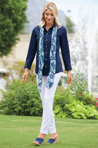 Button-Front Shaped Tunic By Foxcroft