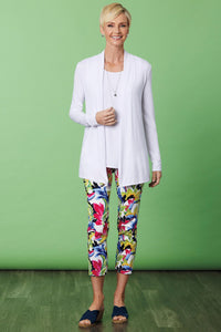 Printed Leaf Stretch Crop Pant by Up!®