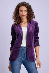 Misses M Blz Stretch Velvet Blazer