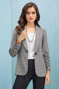 Blazers Plaid Blazer Double Take Blazer-Tall