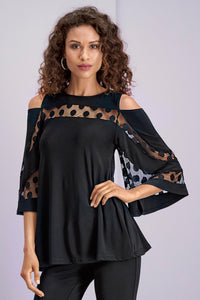 Cold Shoulder Dot Tunic - Misses