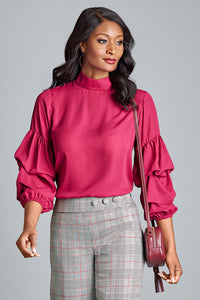 Puffy Sleeve Blouse - Misses