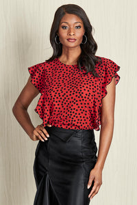 Side Ruffle Blouse - Misses