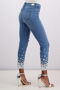 Starfall Frayed-Hem Cropped Jeans - Misses