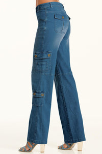 Denim Cargo Pant Jean - Misses