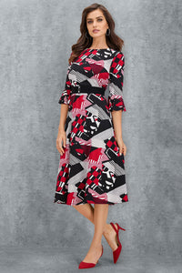 Printed Midi Dress - Misses