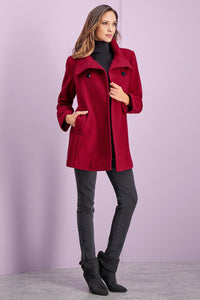 Wool Swing Coat - Misses