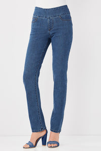 Smooth Waist Straight Pant - Misses