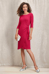 Side Gathered Dress - Misses