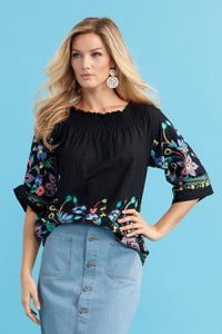 Embroidered Blouse - Misses