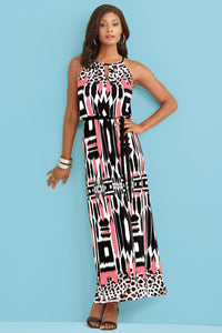 Modern Neckline Maxi Dress - Misses
