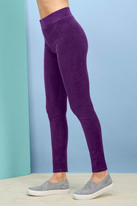 Velour Wide Waistband Leggings - Plus