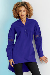 Misses M Cut Out Sleeve Tunic