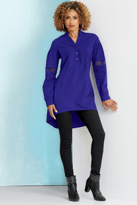 Cut Out Sleeve Tunic-Tall
