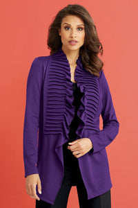 Pleated Open Jacket - Misses