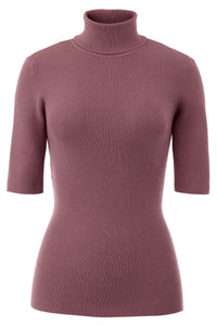 Mini Rib Elbow Sleeve Turtleneck - Misses
