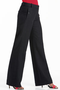 Straight Leg Linen Pants - Plus