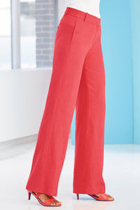 Tall Pnt Straight Leg Linen Pants