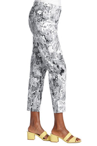 Paisley Sateen Pant - Misses