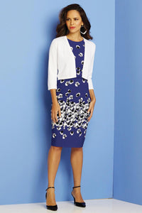 Misses M Drs Belted Floral Dress