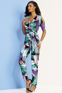 Split Sleeve Jumpsuit - Misses
