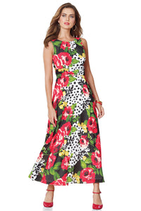 Misses M Drs Gathered Waist Maxi