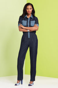 Misses M Drs Patched Jumpsuit