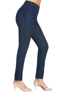 Denim Lace Inset Pull On Skinny Jean - Plus