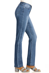 Slimming Modern Straight Leg Jeans - Plus