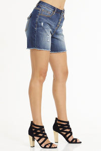 Button Fly Denim Short - Misses