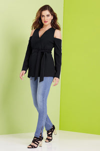 Misses M Blz Cold Shoulder Shirt Jacket