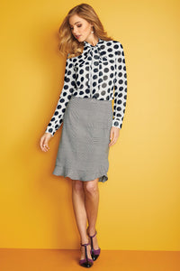 New Peplum Hem Suiting Skirt - Misses