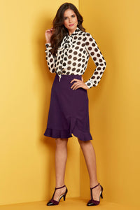 Petite Skt New Peplum Hem Suiting Skirt