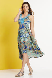 Dress Embroidered Paisley Dress - Plus