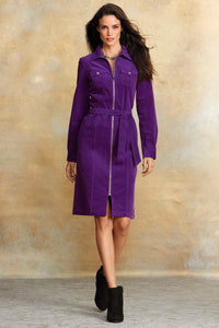 Corduroy Zip Dress - Tall