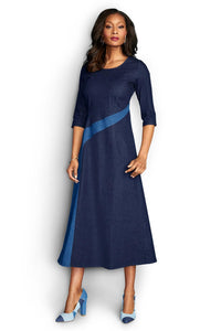 M Drs Denim Side Swipe Dress - Misses