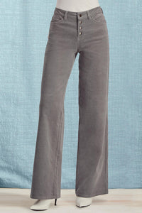 Wide Leg Button Fly Corduroys - Tall