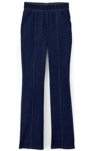 Denim Pull-On Seamed Bootcut Jeans - Misses