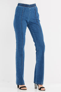Denim Ew Pull On Seamed Bootcut Jean-Petite