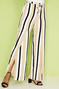 2 Layer Stripe Pant - Misses