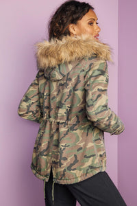 Out Camo Coat - Misses